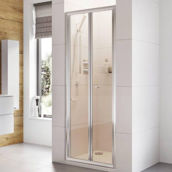 IN6 Bi-Fold Shower Door In Chrome 760mm Wide