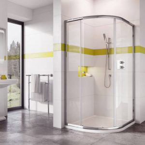IN6 Single Door Offset Quadrant Enclosure 1000 x 800mm In Chrome