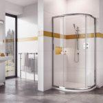 IN6 Single Door Offset Quadrant Enclosure 900 x 800mm In Chrome Lifestyle