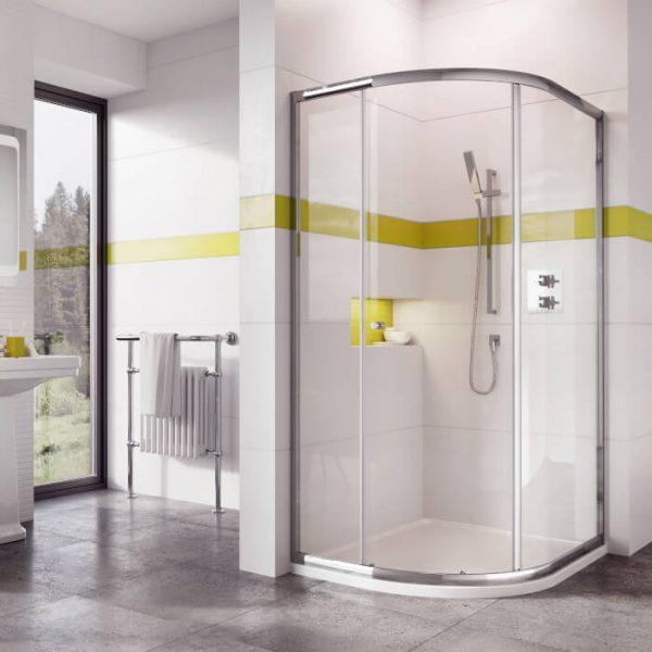IN6 Single Door Quadrant Enclosure 1000 x 1000mm In Chrome