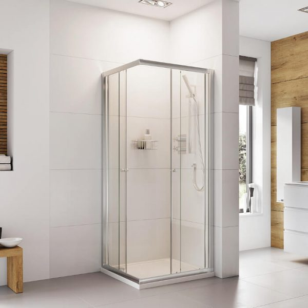 IN6 V2 Corner Entry Shower Enclosure 6mm In Chrome 760x760