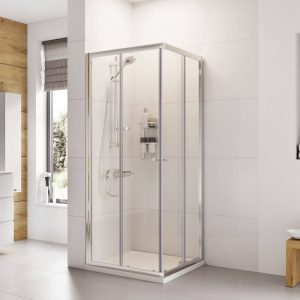 IN6 V2 Corner Entry Shower Enclosure 6mm In Chrome 800x800