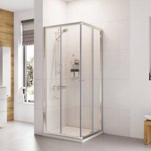 IN6 V2 Corner Entry Shower Enclosure 6mm In Chrome 800x800