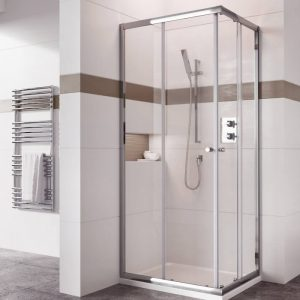 IN6 V2 Corner Entry Shower Enclosure 6mm In Chrome 900x900