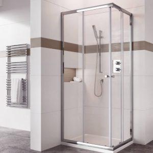 IN6 V2 Corner Entry Shower Enclosure 6mm In Chrome 900x900