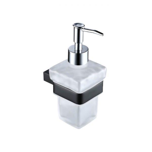 Jersey Black Liquid Soap Dispenser In Black