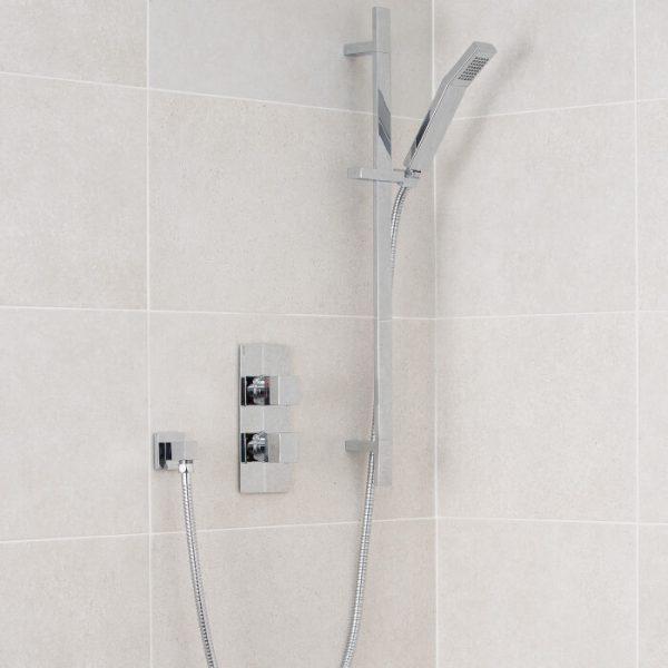 Lance Pack 3 Square Concealed Shower Valve & Riser Kit
