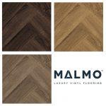 Malmo Luxury Vinyl Stick Down Flooring Herringbone