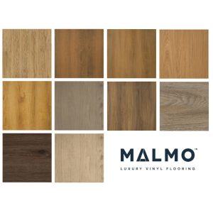 Malmo Luxury Vinyl Stick Down Flooring Plank Finish Various Colours