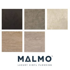 Malmo Luxury Vinyl Stick Down Flooring Tile Finish Various Colours
