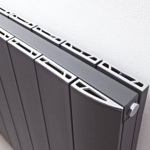 Vixen Horizontal Heated Radiator In Anthracite & White
