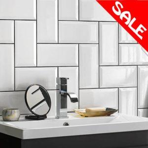 Hemsworth Wall Bathroom Tiles 100X200mm Box of 50 In White