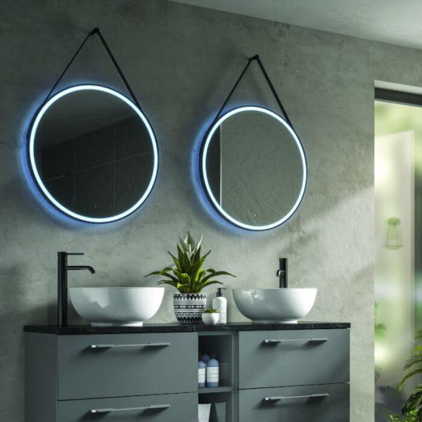 HiB Solstice Round LED Illuminated Mirror 600 & 800mm