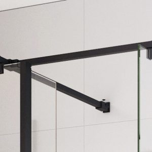 IN10 Wetroom Square Bracing Arm Options 8mm or 10mm In Black