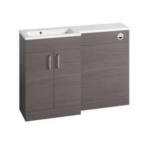 Eden L-Shaped Combination Vanity & WC Unit 1200mm In Urban Grey