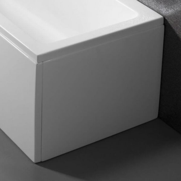 Estelle / Nicole Luxury End Bath Panel 800mm In Gloss White