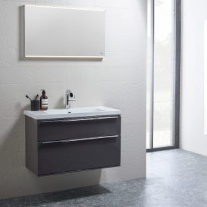 Scheme 800mm Wall Mounted Vanity & Basin In Seven Colours