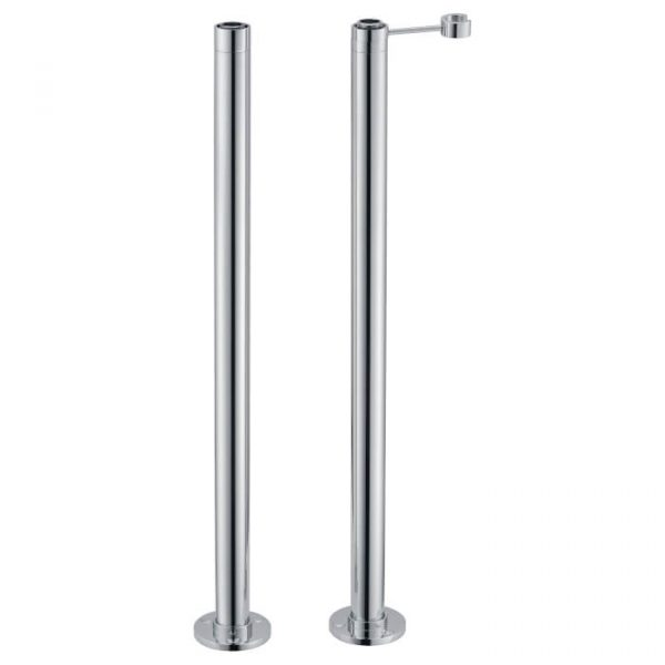 Universal Standpipes / Pipe Upstands For Freestanding Baths In Chrome