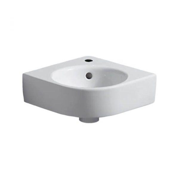 Geberit Selnova Compact Corner Vanity Unit & Basin 320mm In Gloss Grey
