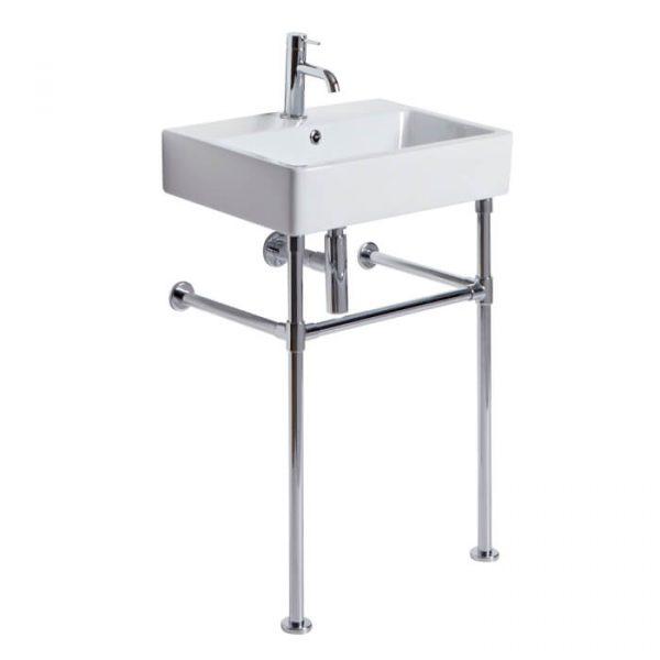 Hampton 575mm Chrome Washstand & Basin