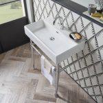 Hampton 700mm Chrome Washstand & Basin Lifestyle