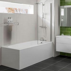 Casper Single Ended Reinforced Bath 1600 x 700mm In White