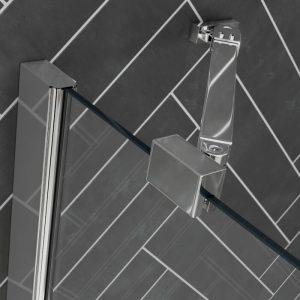 Dart Frameless 4 Folding Bath Screen In Chrome