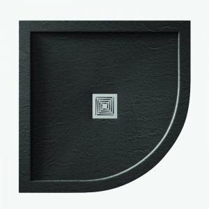 Dart Slate Slimline Quadrant Tray In Slate Black Various Sizes