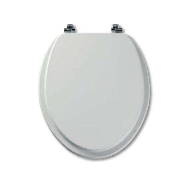 Tavistock Strata White Gloss Wooden Toilet Seat
