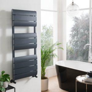 Luna Designer Towel Rail 500 x 1200mm In Matt Anthracite