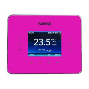 Warmup 3IE Programmable Thermostat In Deep Pink